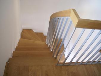 Treppe Eiche Metall