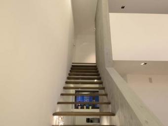 Treppe in Betonwand